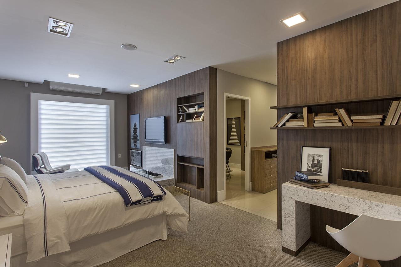 Decoração de quarto de casal clara e aconchegante, sofisticada, moveis planejados exclusivos, mariana haja arquitetura